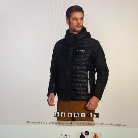 Adidas terrex myshelter down hooded jacket